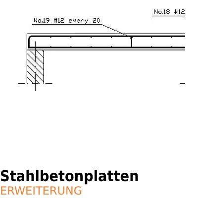 ArCADia BIM Bewehrung und Konstruktion - Betonplatten Stahlbetonplatten
