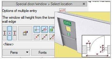 Einfügen von Fenster und Türen in ArCADia BIM