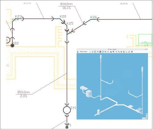 Planung von Entwässerungsanlagen in ArCADia BIM