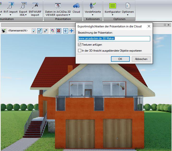 3D Maker - Speichern in der Cloud - ArCADia Software