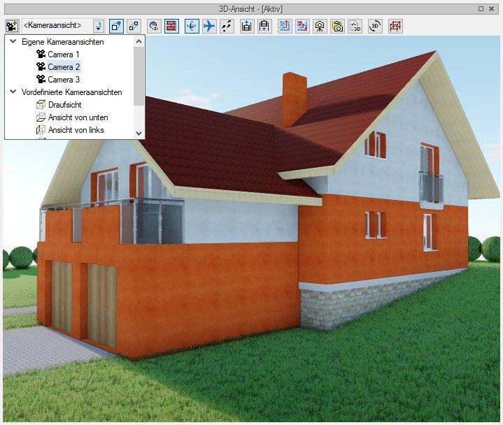 3D Maker - Definieren von Kameraansichten - BIM Software
