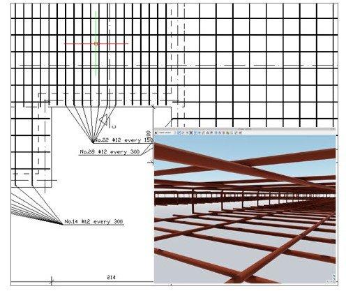 ArCADia BIM Bewehrungskonstruktion Betonplatte