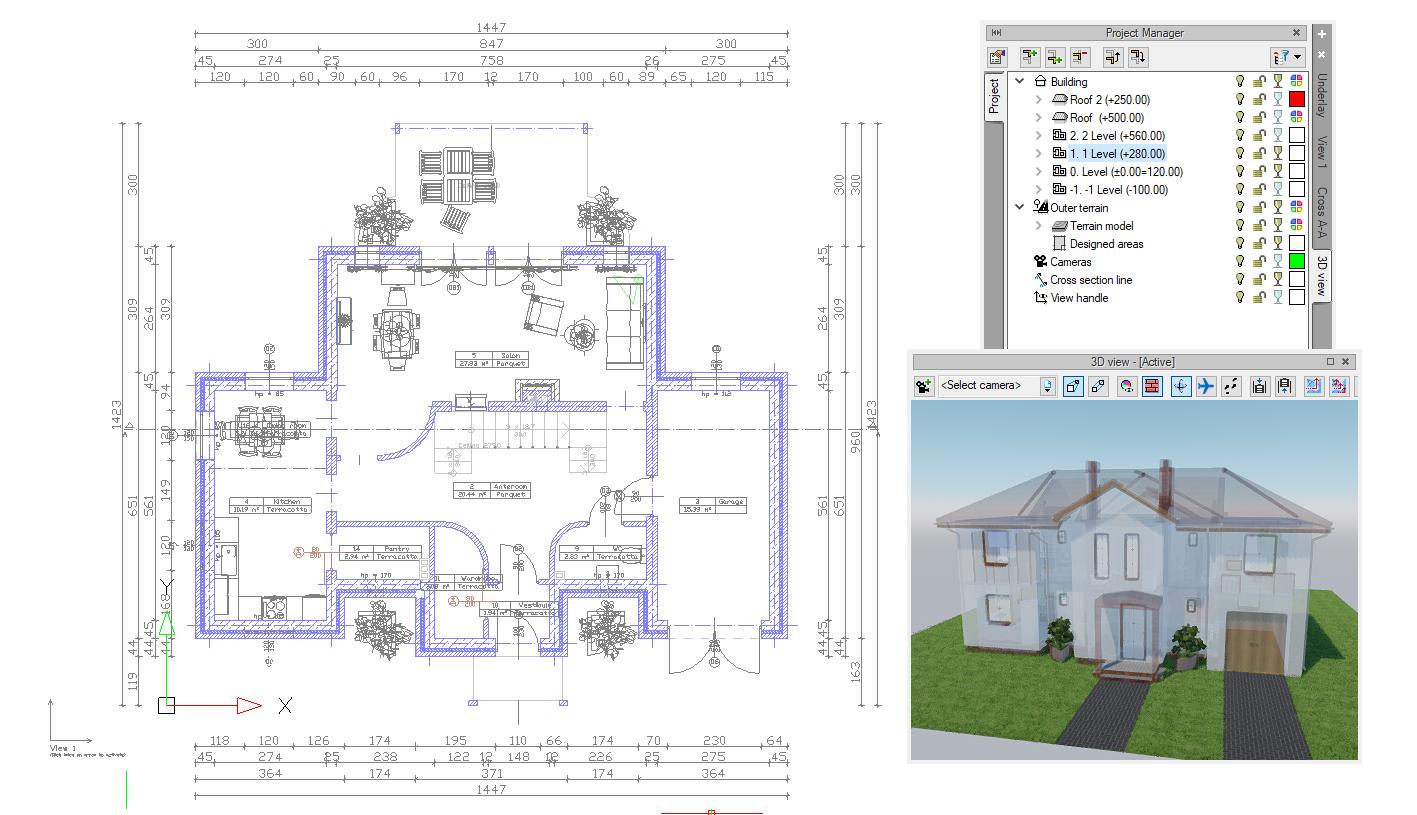 Der beste 21D HausDesigner von ArCADia BIM   ArCADia BIM CAD Software