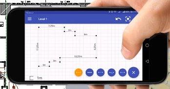 Aufmaß mit Laser Entfernungsmesser ArCADia BIM CAD Software Handy App