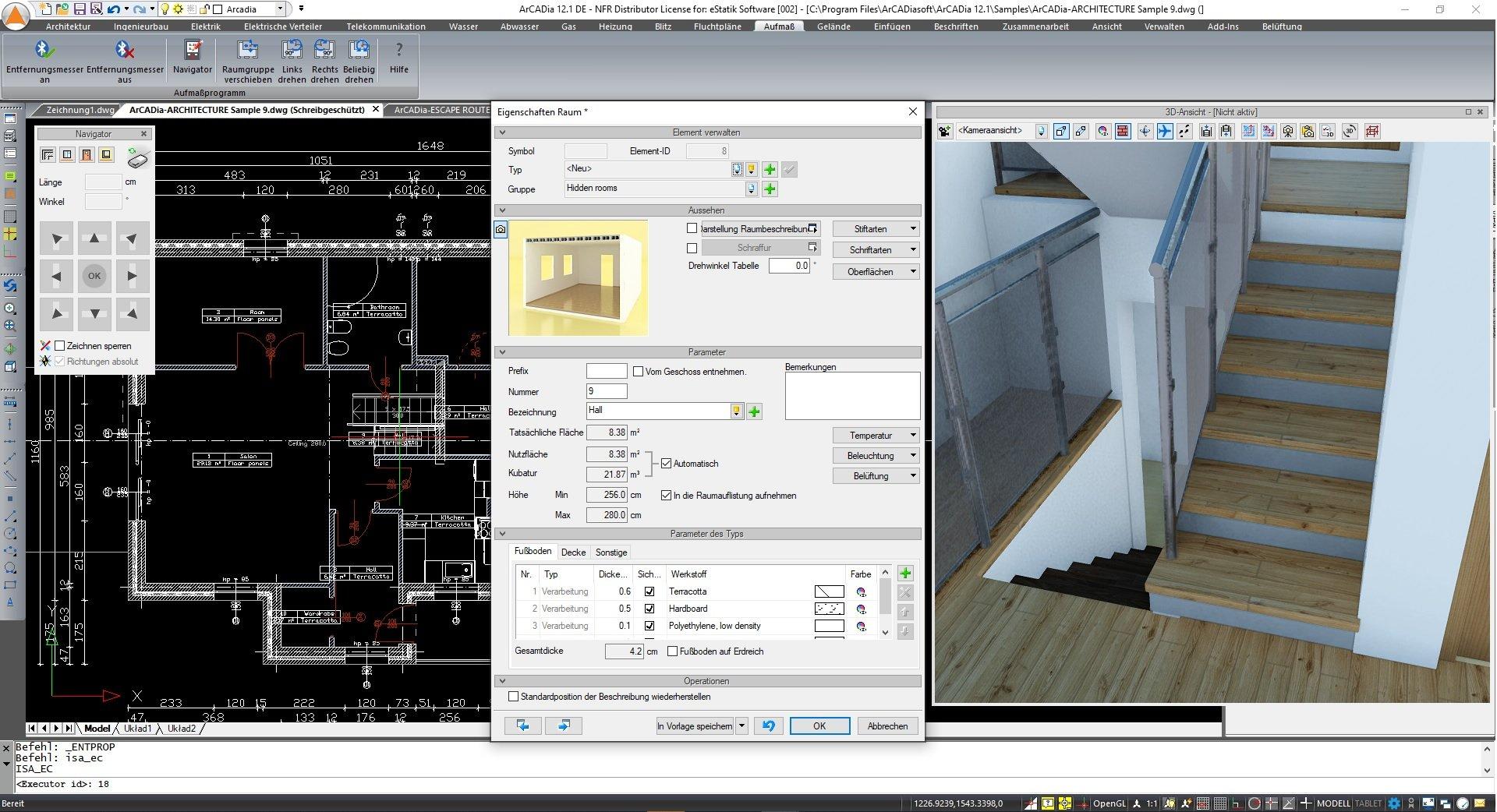 Aufmaß mit Laser für ArCADia BIM CAD Software ScreenshotAufmaß mit Laser für ArCADia BIM CAD Software Screenshot