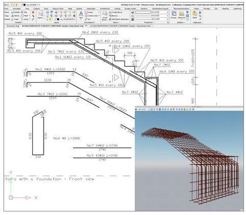 Bewehrung Stahlbetonbauteile konstruieren in ArCADia BIM Software