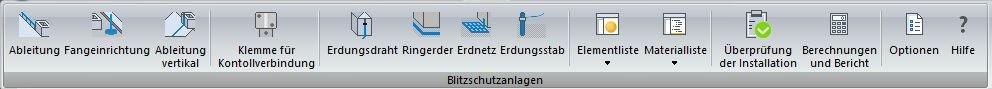 Blitzschutz Software Funktionen