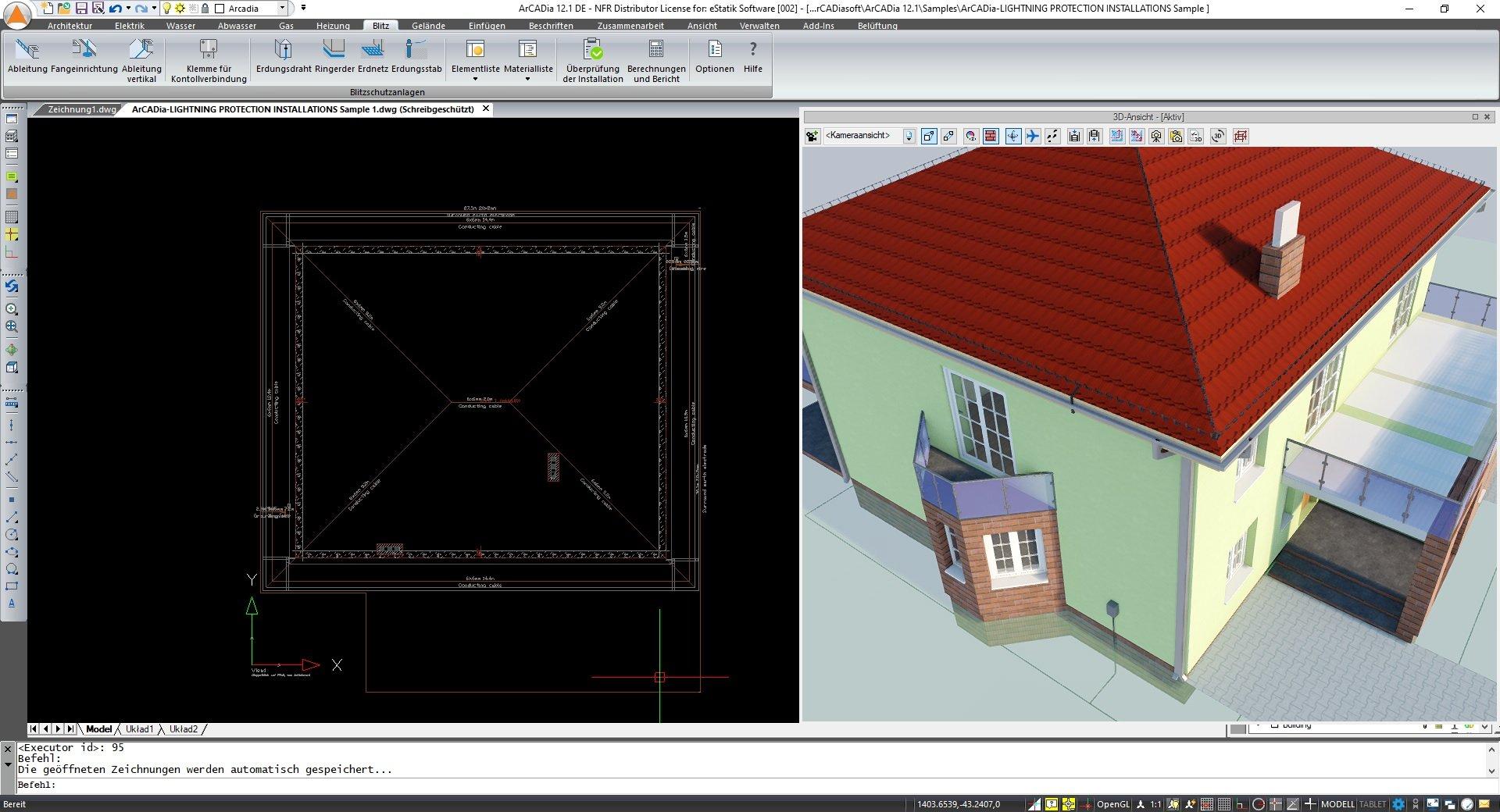 Blitzschutzanlagen planen in ArCADia BIM Software