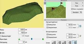 Geländeplanung mit ArCADia BIM Landschaftsarchitektur