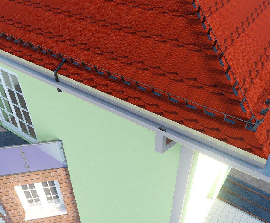Planen und Zeichnen von Blitzschutzanlagen am Haus und auf dem Dach ArCADia BIM