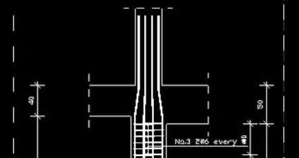 Stahlbetonstützen Beweherungskonstruktion in ArCADia BIM Software - Ingenierbau Grundrissansicht