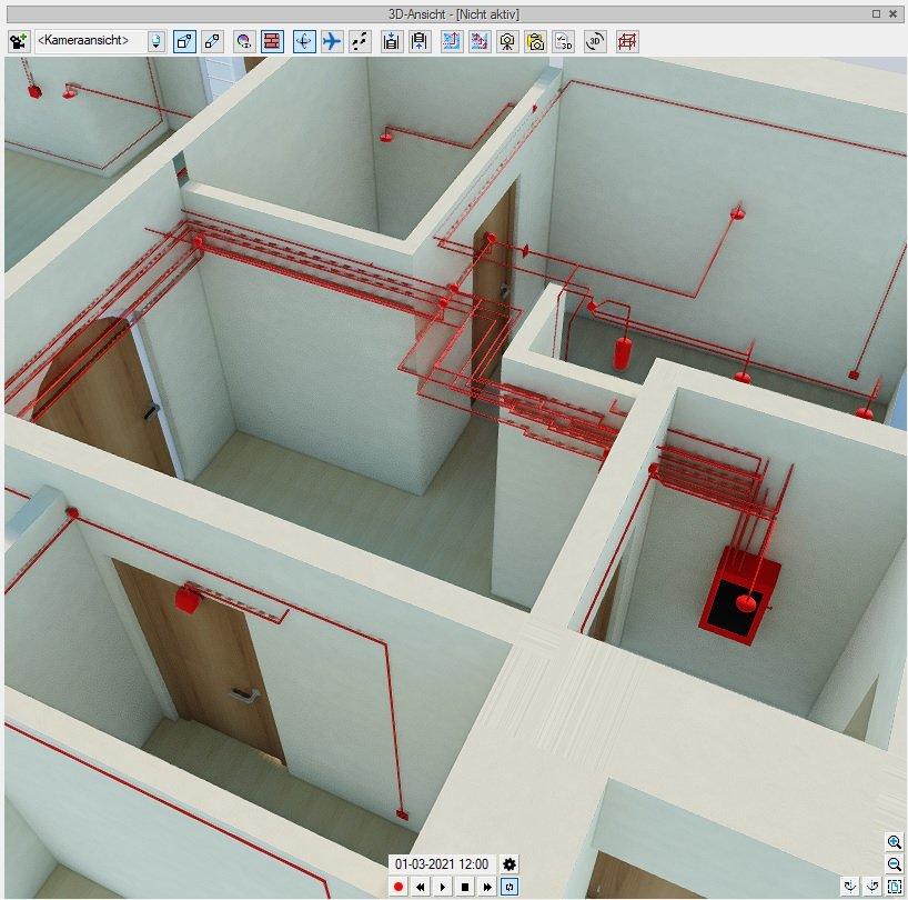 Elektroinstallationen 3D Ansicht Elektroplanung